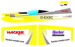EXTRA 330SC double Hacker ARF žltá